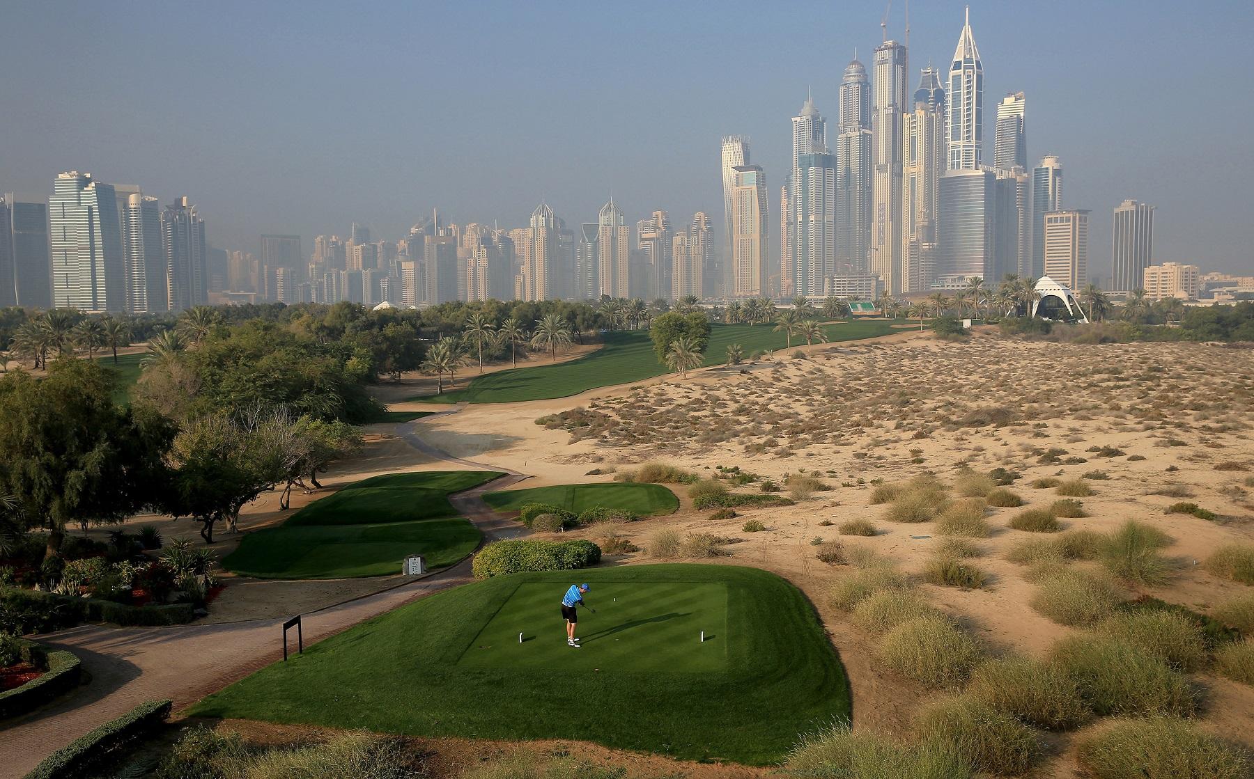 Emirates Golf Club Majlis 8th