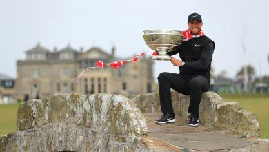 Bjerregaard with trophy