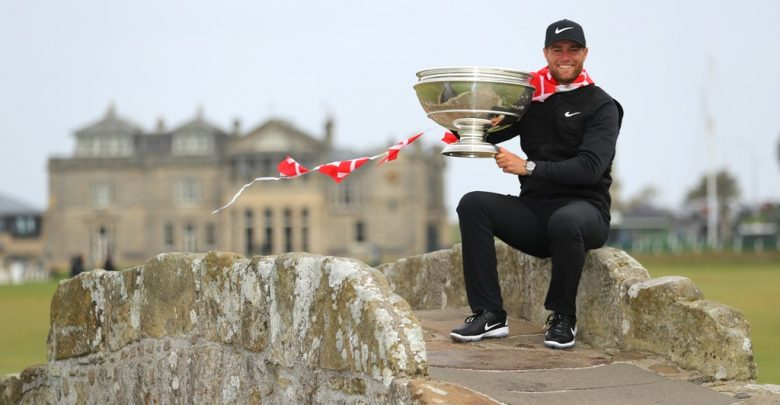 Bjerregaard with trophy