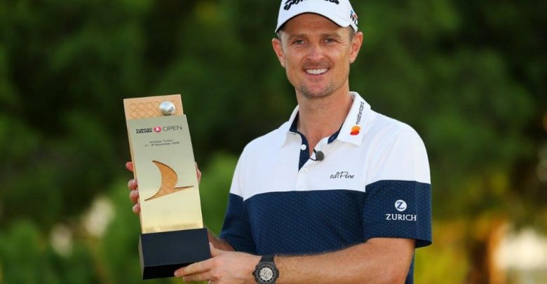 Justin Rose with trophy