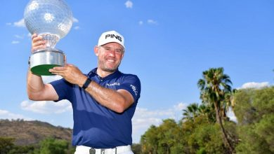 Lee Westwood with trophy