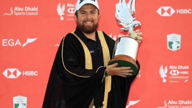 Shane Lowry with trophy
